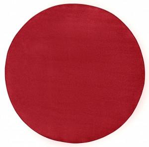 Covor rotund rosu Fancy Uni Hanse Home (diverse marimi)