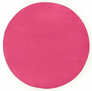 Covor rotund roz inchis Fancy Uni Hanse Home (diverse marimi)