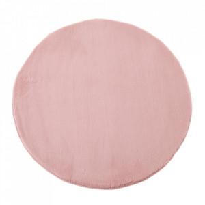 Covor roz din poliester 80 cm Lindsey Unimasa