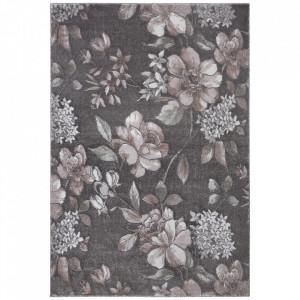 Covor roz/gri din polipropilena si poliester Provance Aubusson Jardin Nouristan (diverse dimensiuni)