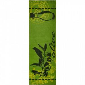 Covor verde bucatarie 150x50 cm Olive Zala Living