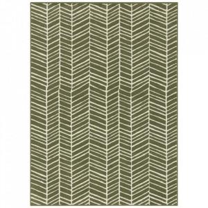 Covor verde din polipropilena Line Pattern The Home (diverse dimensiuni)