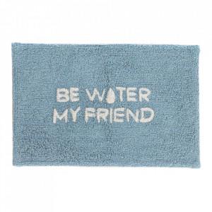 Covoras baie albastru din bumbac 40x60 cm Nandi Be My Water Friend Kave Home