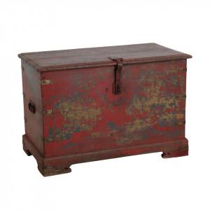 Cufar rosu din lemn de tec si fier Havana Raw Materials