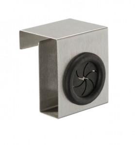 Cuier argintiu/negru din inox si plastic pentru usa Kitchen Door Hook Wenko
