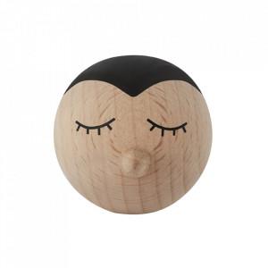 Cuier maro din lemn Mini Penguin Oyoy