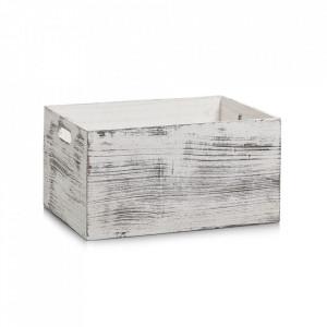 Cutie alba din lemn Rustic Zeller