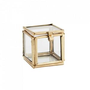 Cutie aurie din fier si sticla Quadratic Madam Stoltz