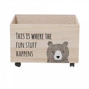 Cutie lemn pentru depozitare jucarii Fun Stuff Bloomingville