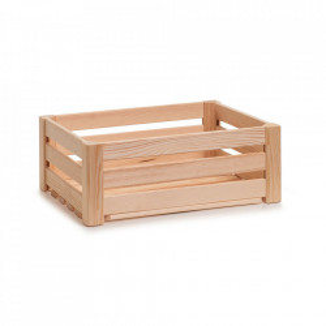 Cutie maro din lemn Strips Medium Zeller
