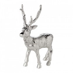 Decoratiune argintie din aluminiu 18 cm Rudolph Edzard