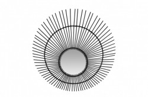 Decoratiune cu oglinda neagra din ratan pentru perete 120 cm Sun Versmissen