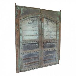 Decoratiune de perete verde/albastra din lemn 206x240 cm Rahhia Raw Materials
