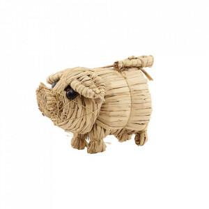Decoratiune din paie de grau Small Pig Nicolas Vahe
