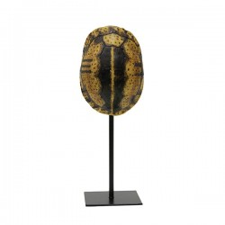 Decoratiune din polirasina si metal galben 32 cm Turtle Yellow HK Living