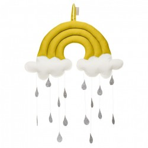Decoratiune galbena suspendabila din bumbac pentru copii Rainbow Mustard Cam Cam