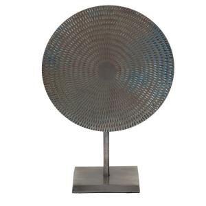 Decoratiune gri din aluminiu 44 cm Velia Zago