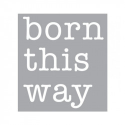 Decoratiune luminoasa alba din sticla Neon Art Born This Way Seletti
