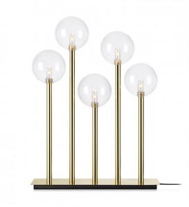 Decoratiune luminoasa aurie/transparenta din metal si sticla Levels Markslojd