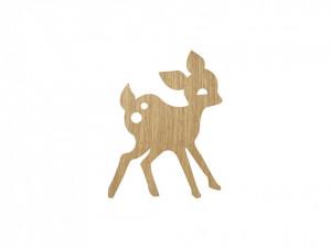 Decoratiune luminoasa de perete pentru copii My Deer Oiled Oak Ferm Living