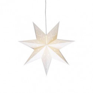 Decoratiune luminoasa suspendabila alba din carton Saturnus Mini Markslojd