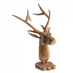 Decoratiune maro din lemn 80 cm Deer Vical Home