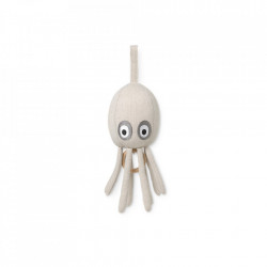 Decoratiune muzicala suspendabila crem din bumbac Octopus Ferm Living