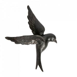 Decoratiune neagra din piatra si rasina 58 cm Avaler XL Be Pure Home