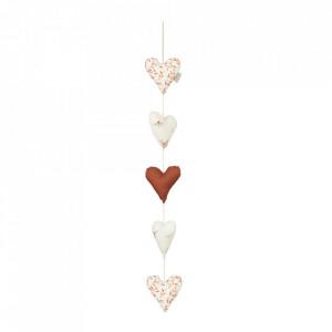 Decoratiune suspendabila din bumbac organic Hearts Caramel Cam Cam