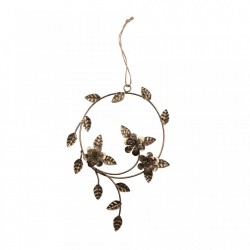 Decoratiune suspendabila maro alama din metal Dangle Flower Be Pure Home
