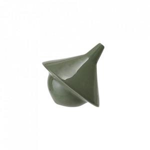 Decoratiune verde din ceramica 8,5 cm Spinning Bloomingville