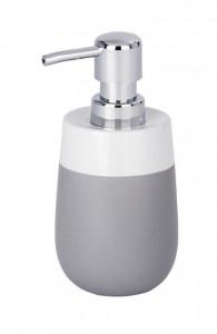 Dispenser alb/gri din ceramica 310 ml Malta Soap Wenko
