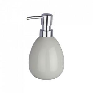 Dispenser gri/argintiu din ceramica 390 ml Polaris Soap Light Wenko