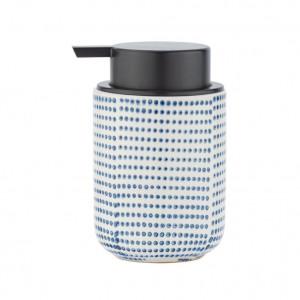 Dispenser sapun lichid alb/albastru din ceramica 300 ml Nole Wenko