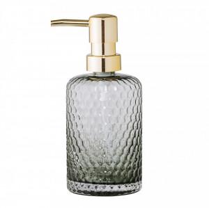 Dispenser sapun lichid gri din sticla 7x17 cm Foggy Bloomingville