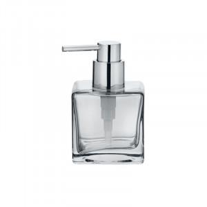 Dispenser transparent/argintiu din sticla 280 ml Lavit Wenko