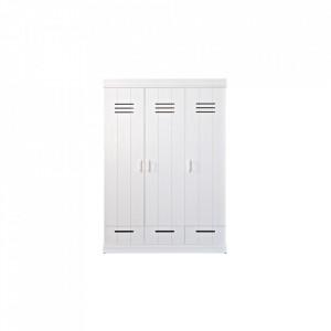 Dulap alb din lemn 195 cm Connect Three Locker Woood