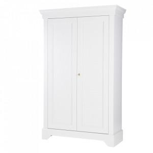 Dulap alb din lemn de pin 191 cm Isabel Woood