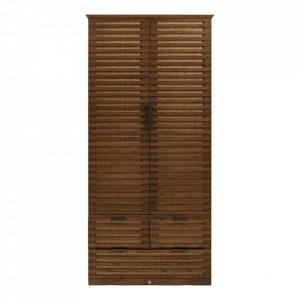 Dulap maro din lemn de stejar 220 cm Cove Riviera Maison