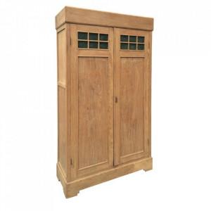 Dulap maro din lemn de tec 210 cm Lavit Denzzo