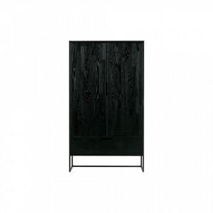 Dulap negru cu 2 usi 149 cm Silas Woood