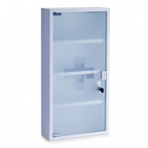 Dulapior alb din metal si sticla pentru medicamente Medicine Cabinet High White Zeller