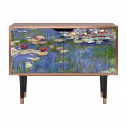 Dulapior multicolor din MDF si lemn The Water Lily Pond By Claude Monet Clara Furny