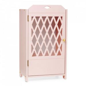 Dulapior roz pentru papusi din MDF Harlequin Blossom Pink Cam Cam