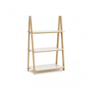 Etajera alba/maro din lemn de frasin si otel 126 cm One Step Up Normann Copenhagen