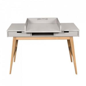Extensie modulara gri din MDF Trendy Desk Quax