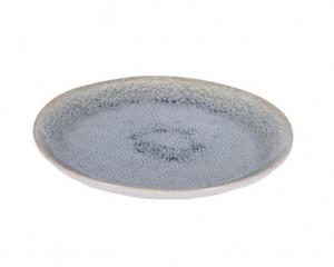 Farfurie alba/albastru deschis din ceramica pentru desert 20,7 cm Sachi La Forma