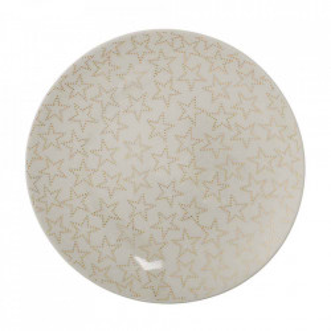 Farfurie alba din ceramica 16 cm Fanny Bloomingville