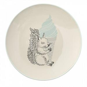 Farfurie alba din ceramica 20 cm Norina Bloomingville