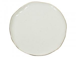 Farfurie alba din portelan 26 cm Handmade White Santiago Pons